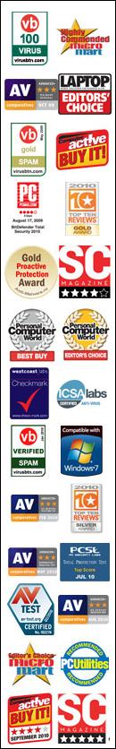 More BitDefender Awards